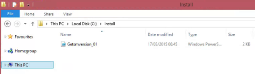 Extract files get version SCSM