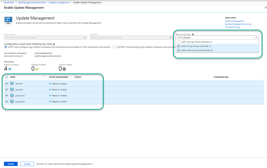 Getting started with Azure IaaS Inventory, Change Tracking